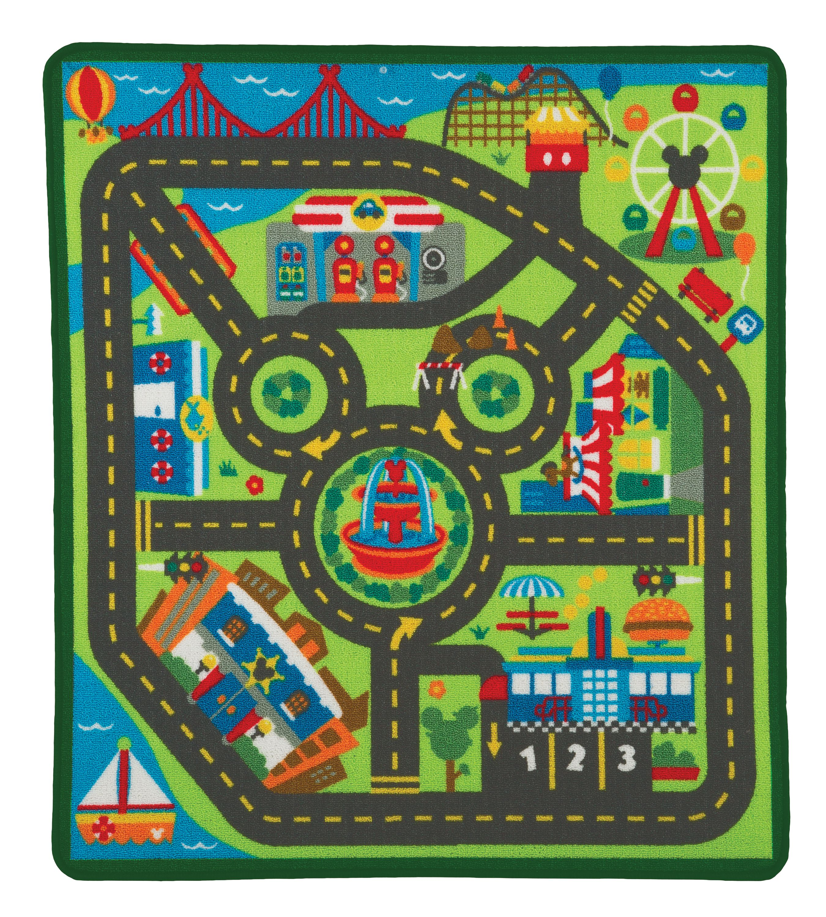Melissa & Doug Disney Mickey Mouse City Activity Rug Set