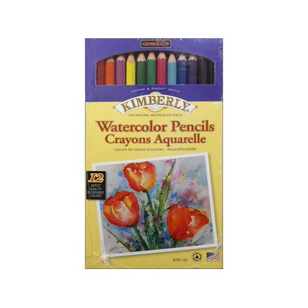 General's Kimberly Water Color Pencil Set 12pc