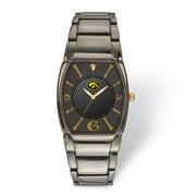 FB Jewels LogoArt University of Iowa Executive Black-plated Watch