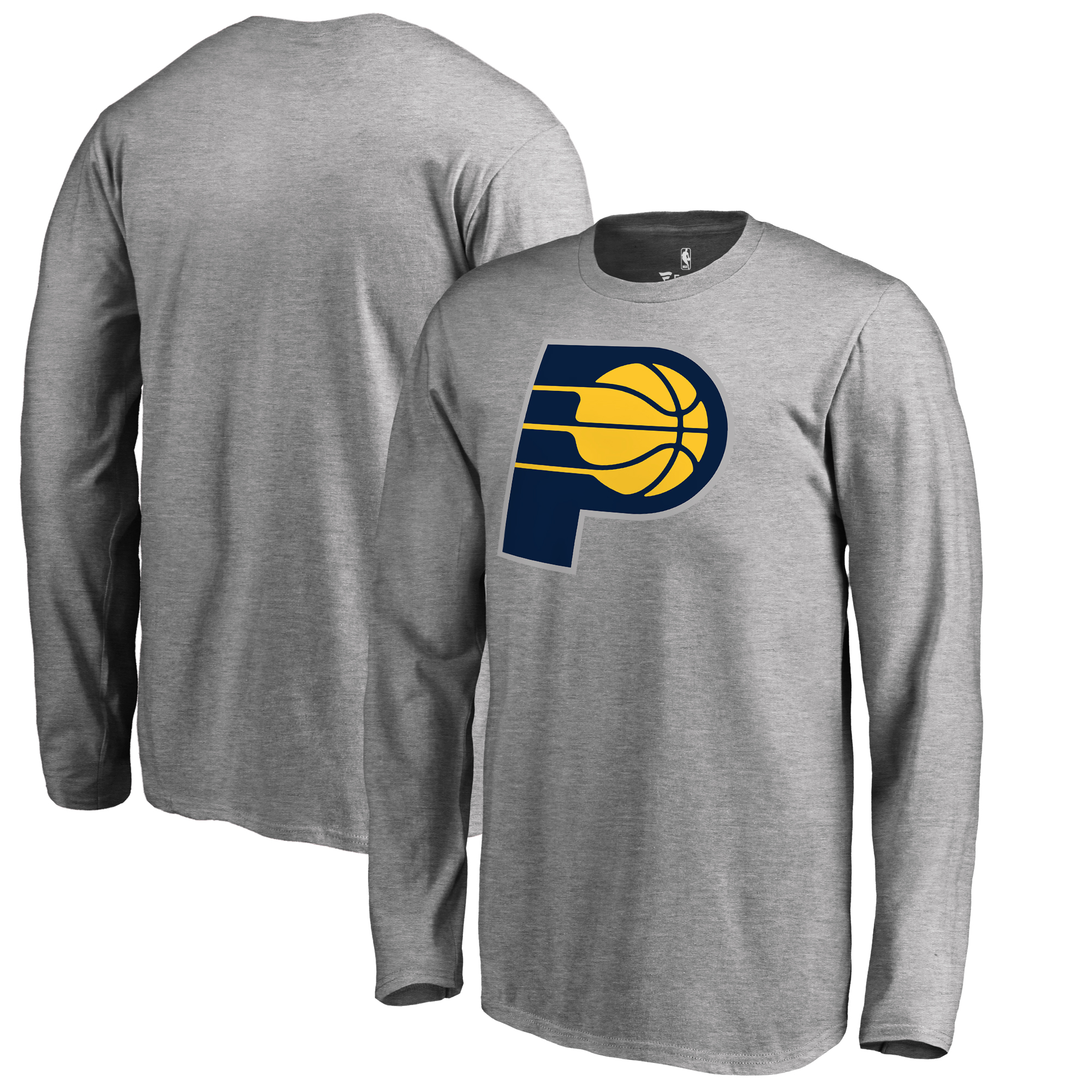Indiana Pacers Fanatics Branded Youth Primary Logo Long Sleeve T-Shirt - Heathered Gray
