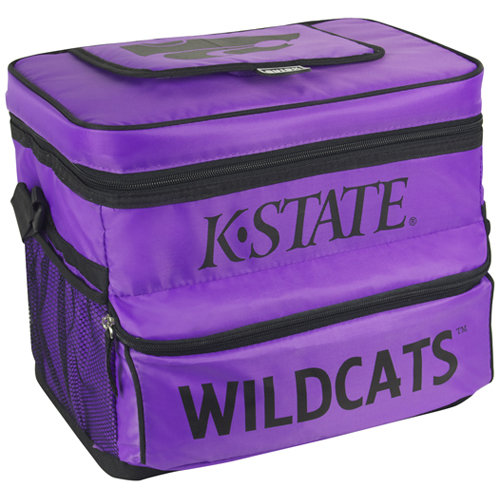 NCAA Kansas State University 18-Can Cooler with Removable Hardliner