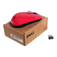 WM311 Dell RED Wireless 1000 DPI Optical Travel Mouse USB Dongle Combo SET 67JGG Mouse