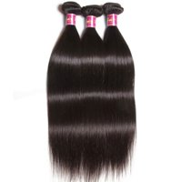 "UNice Hair Brazilian Straight Virgin Hair 100% Human Hair Weave 3 Bundles, 26""28""30"""