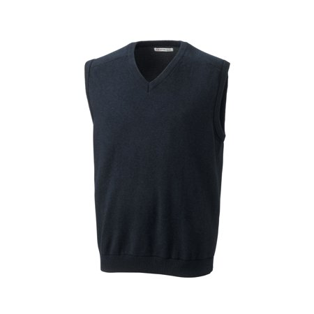 - cutter & buck men's big and tall broadview v-neck sweater vest, charcoal heather - s