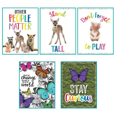 Fun Express - Sgs Woodland Whimsy Poster Set - Educational - Classroom Decorations - Classroom Decor - 5 - Decoration Of Class Rooms