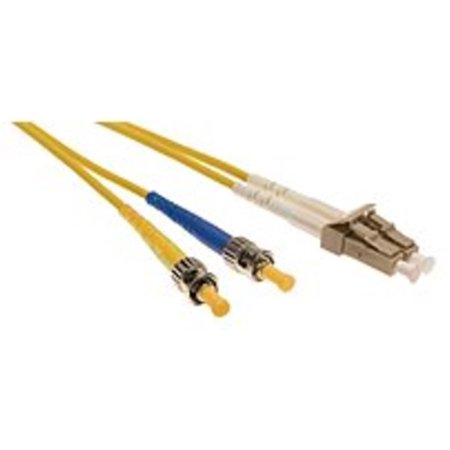 Duplex Single Mode Patch - Shaxon FCSTLCS01M-B ST-to-LC Duplex Single Mode 8.3/125 Fiber Optic Patch Cord, 1m, Yellow