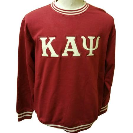 Buffalo Dallas Kappa Alpha Psi Crew Neck Mens Sweatshirt [Crimson Red -