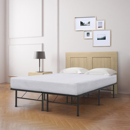 Best Price Mattress 8 Inch Memory Foam And Innovated Platform Metal Bed Frame Set