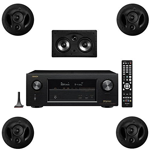 Polk Audio 90RT 5 Channel Speaker Package with 255CRT and Denon AVRX2300W AV Receiver by Polk Audio