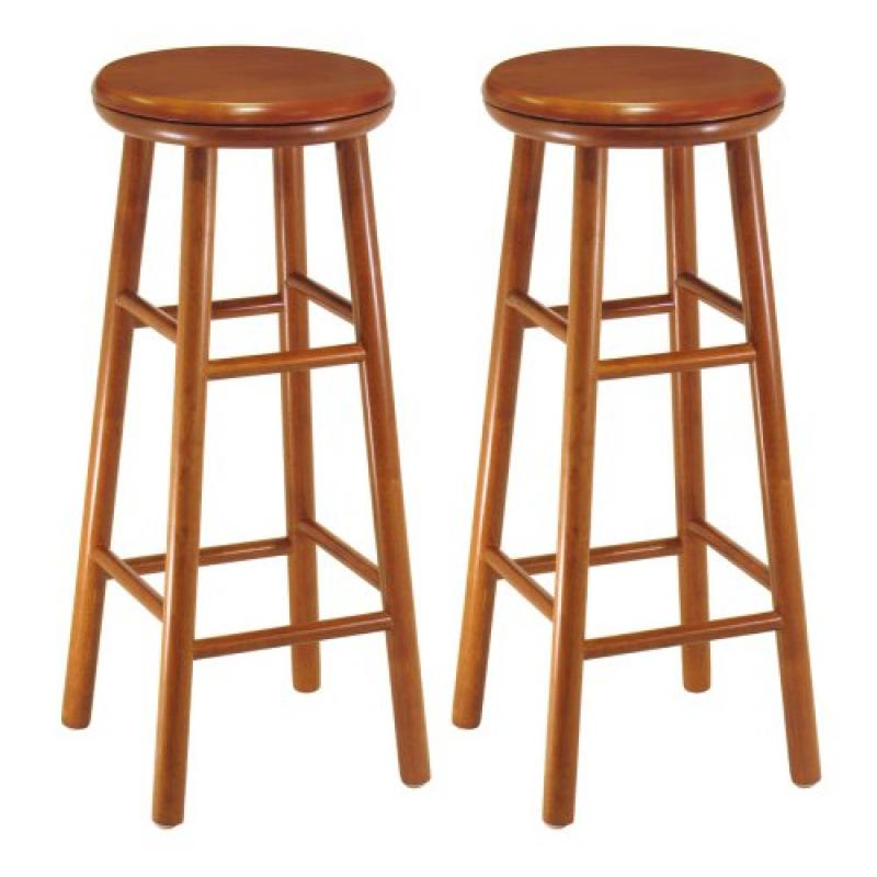 Winsome Wood Assembled 31-Inch Cherry Finish Swivel Stool...
