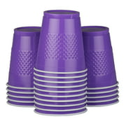 JAM Plastic Cups, 12 oz, Purple, 20/Pack