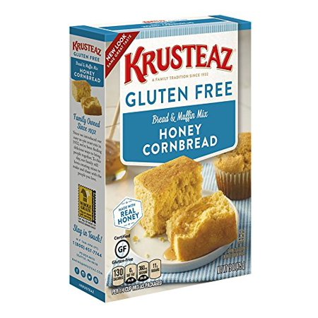 (2 Pack) Krusteaz Gluten Free Honey Cornbread Mix, 15oz