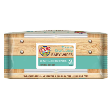 Earths Best Chlorine Free Baby Wipes Refill  72 Count