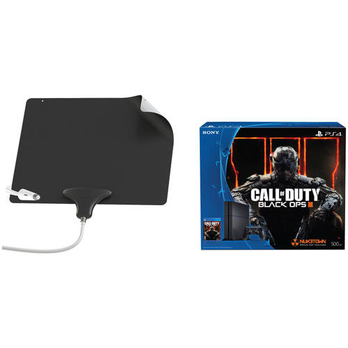 Playstation 4 500GB Console, Mohu Leaf Ultimate Antenna Bundle - Cut the Cable