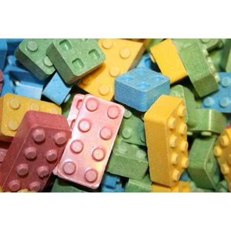 BAYSIDE CANDY EDIBLE CANDY BLOX/BLOCKS, DELICIOUS AND FUN-1LB