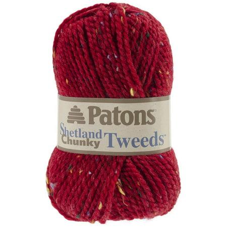 Shetland Chunky Yarn - Tweeds-Deep Red
