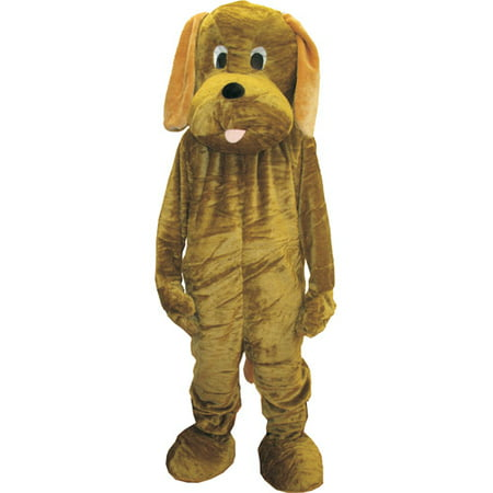 Puppy Mascot Adult Halloween Costume, Size: Men's - One Size](Trojan Mascot Costume)