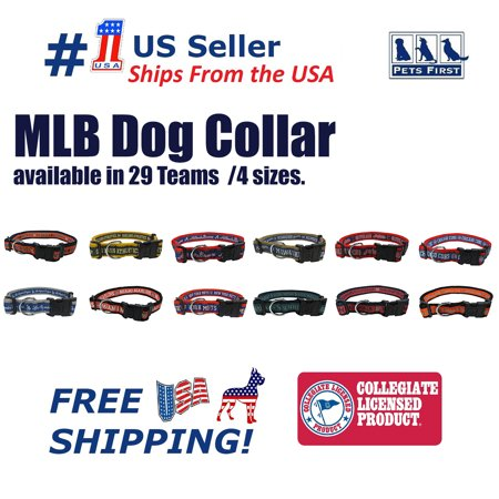 Pets First MLB Tampa Bay Rays Dogs and Cats Collar - Heavy-Duty, Durable & Adjustable - Small