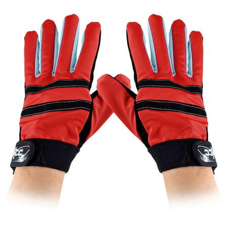 Unique bargains unique bargains women men anti slip nylon for Fishing gloves walmart