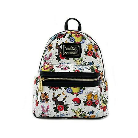 5cdfe124231c Loungefly - Pokemon Eevee Evolution Tattoo Flash Print Mini Backpack -  Walmart.com