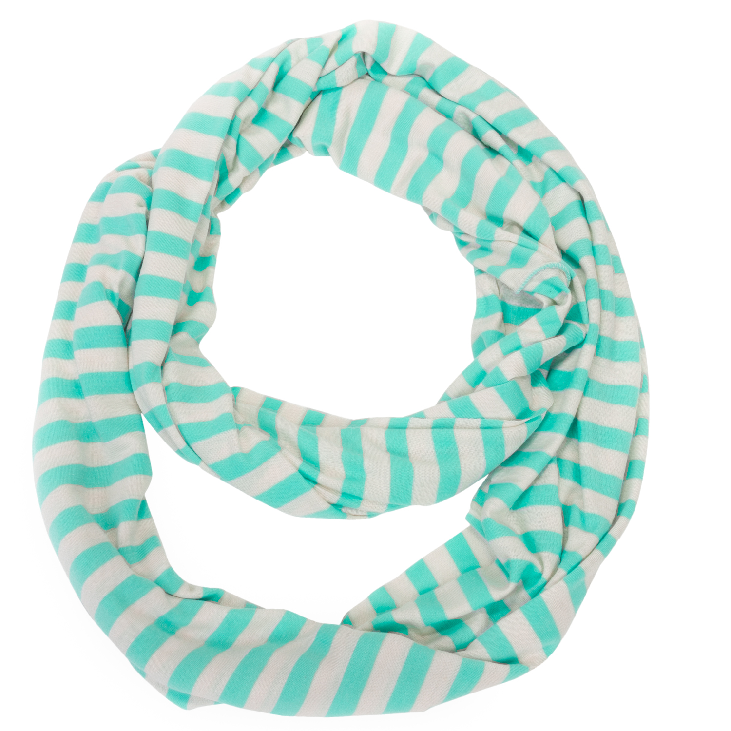 Women's Nautical Cape May Stripe Infinity Circle Scarf Lightweight Wrap -PCW6004