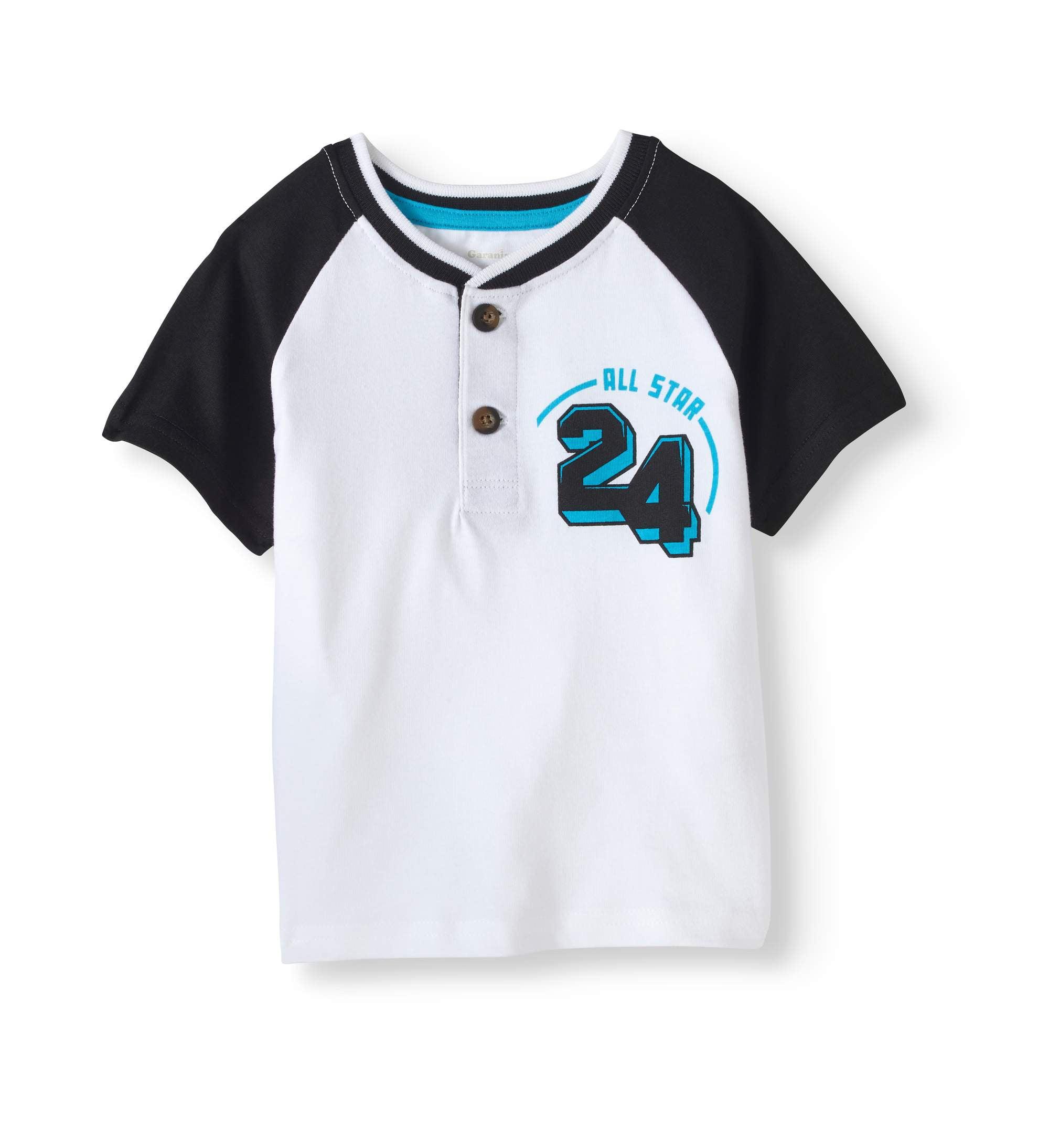 e2c9e7cdc Garanimals - Toddler Boy Short Sleeve Graphic Henley Top - Walmart.com