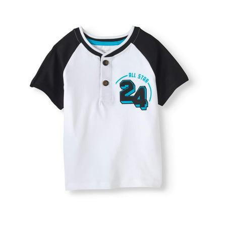 235731e7e Garanimals - Toddler Boy Short Sleeve Graphic Henley Top - Walmart.com
