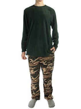 a5754a28422 Product Image Joe Boxer (2 Piece) Men s Fleece Pajamas Set Soft Shirt Warm  Pants PJ Sleepwear