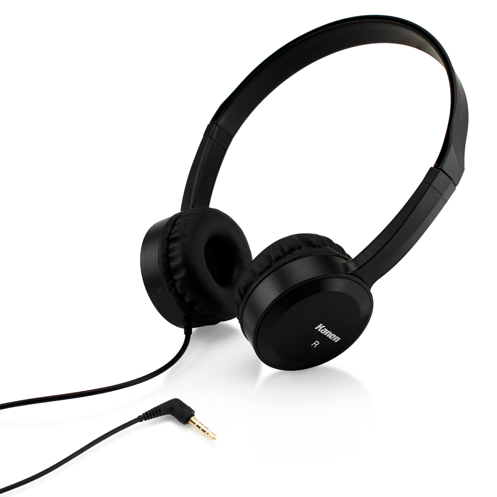 3.5mm Stereo Headphone Earphone Headset with Mic Answer Phone Function For iPhone MP3 MP4 PC Tablet Laptop