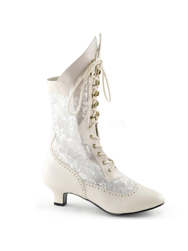 DAME115/IV/PU Funtasma Women's Boots Ivory Size: 8