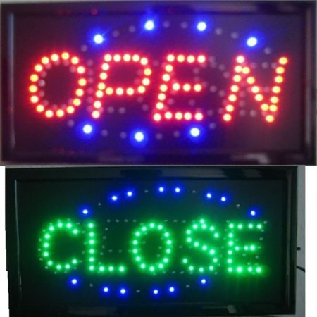 - iMeshbean Animated Motion LED Business 2-in-1 Open Close SIGN On/Off Switch Light Neon