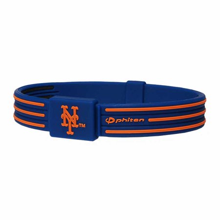 Phiten - Titanium Bracelet S-Type New York Mets-6 3/4inch