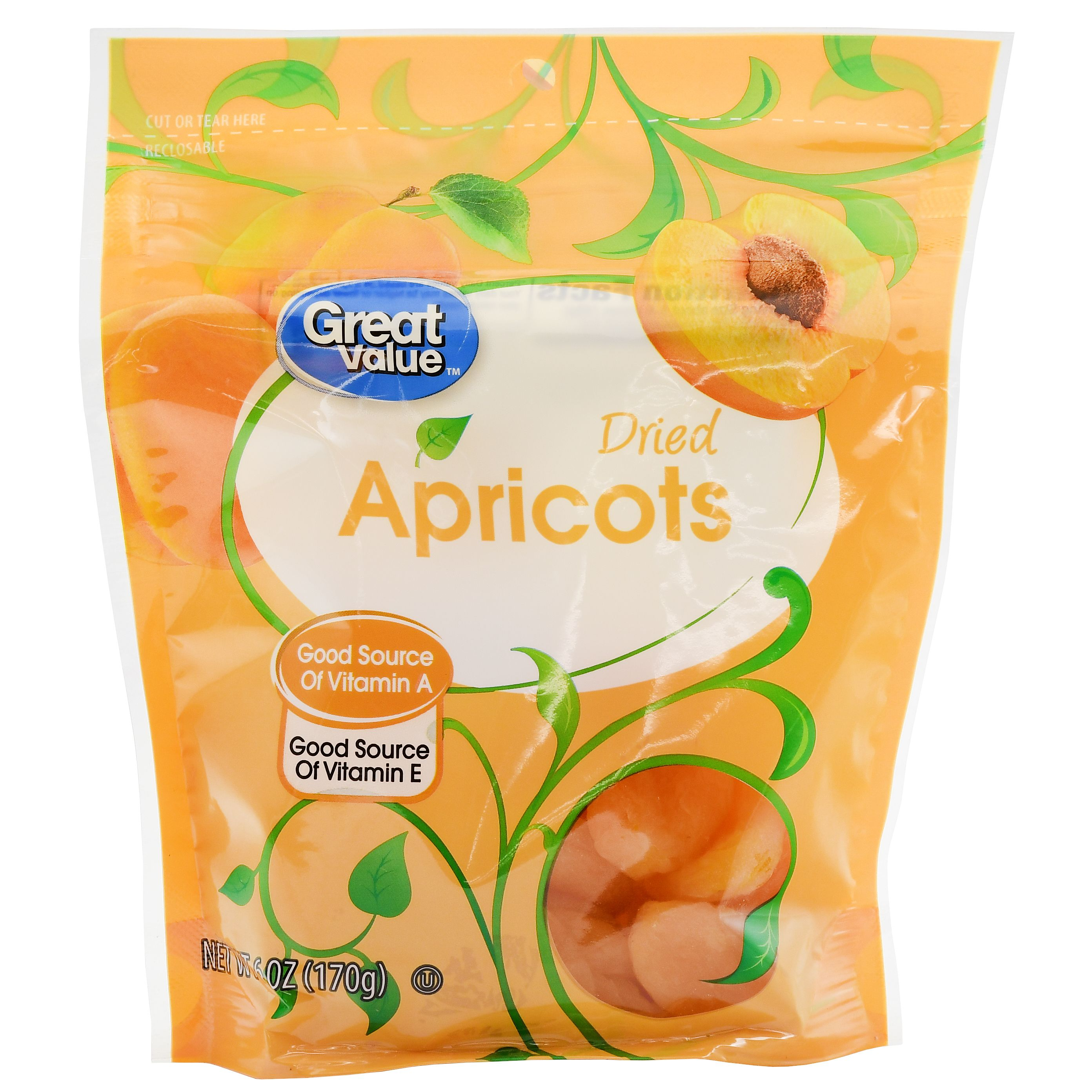 Great Value Dried Apricots, 6 oz