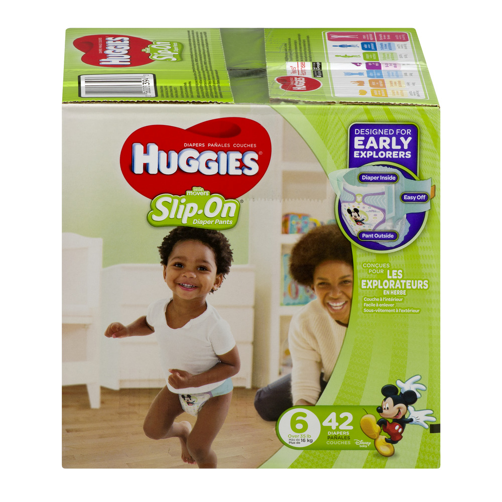 HUGGIES Little Movers Slip-On Diaper Pants, Size 6, 42 Diapers