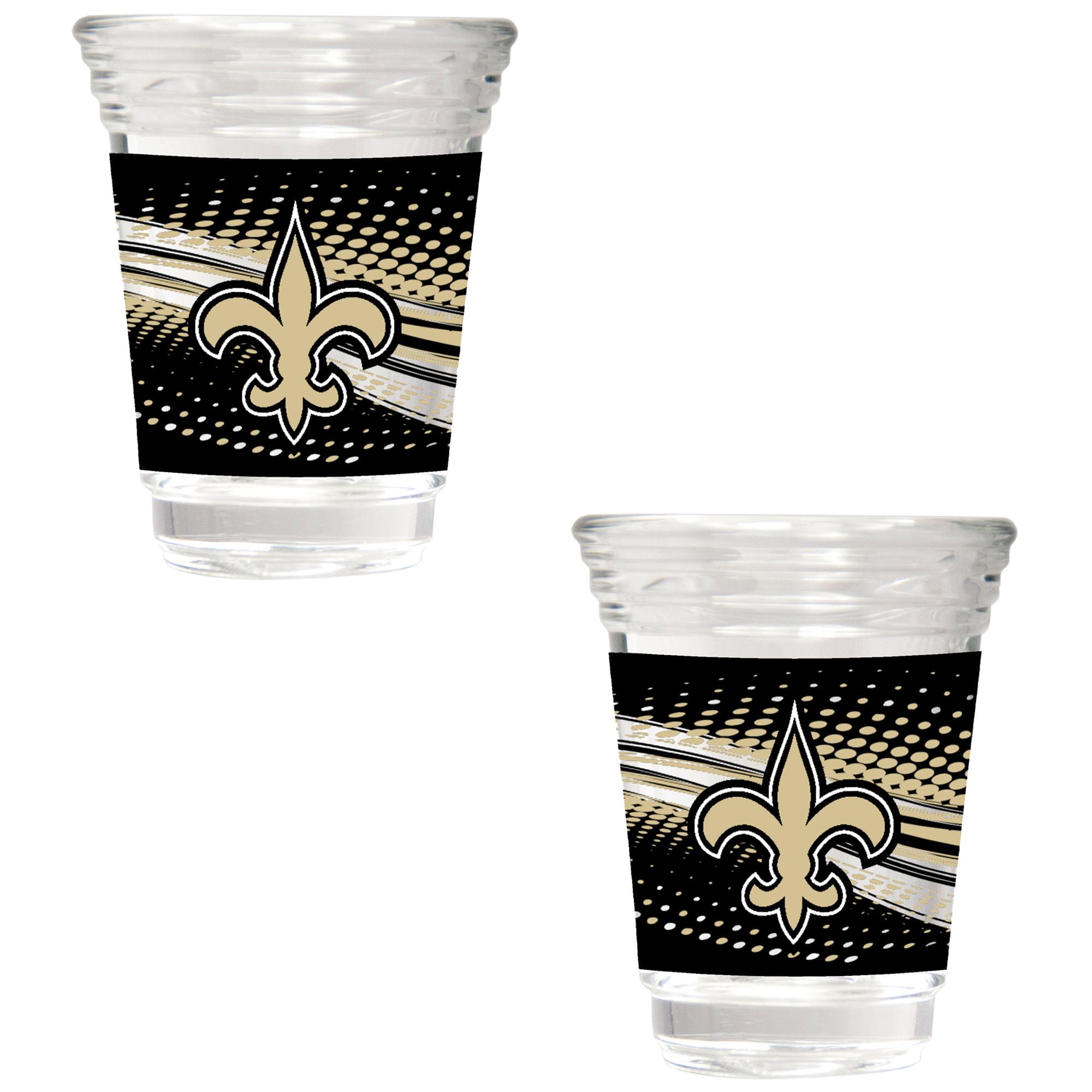 New Orleans Saints 2-Piece 2oz. Party Shot Glass Set - No Size