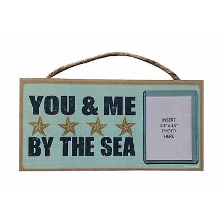 YOU & ME BY THE SEA Starfish Photo Frame Primitive Wood Hanging Plaque 5