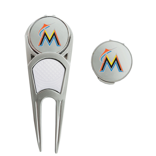 Miami Marlins WinCraft Ball Marker, Hat Clip & Repair Tool Set - No Size