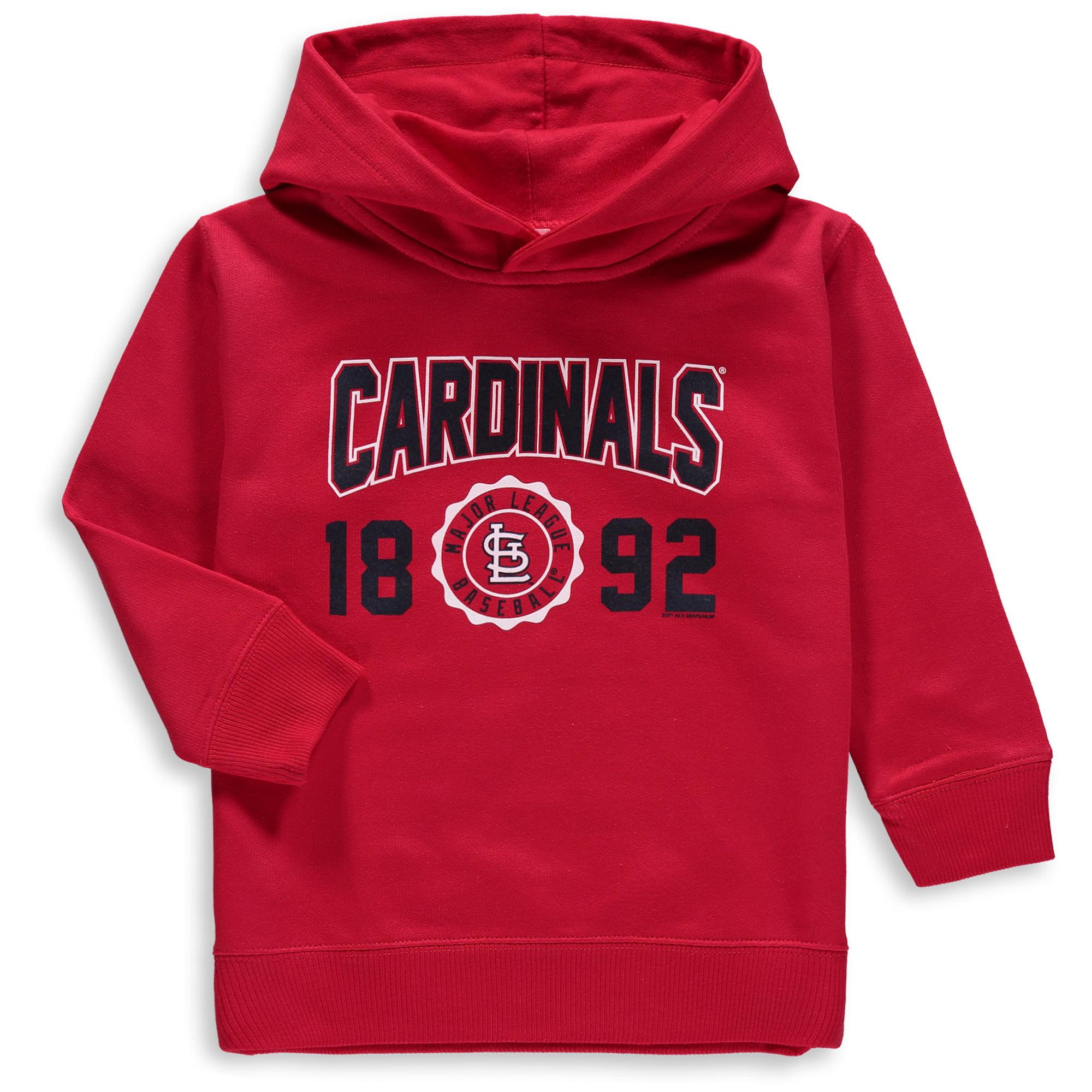 St. Louis Cardinals Soft as a Grape Toddler Fleece Pullover Hoodie - Red