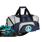 Broad Bay Small Peace Sign Duffle Bag or Small Peace Sign Gym Bags