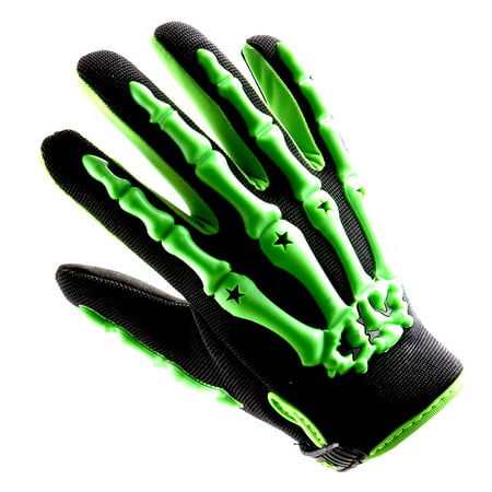 Motocross Motorcycle BMX MX ATV Dirt Bike Bicycle Skeleton Gloves (Mx Riding Gloves)