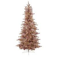 9 ft. Matte Blush Slim Tree, Pink