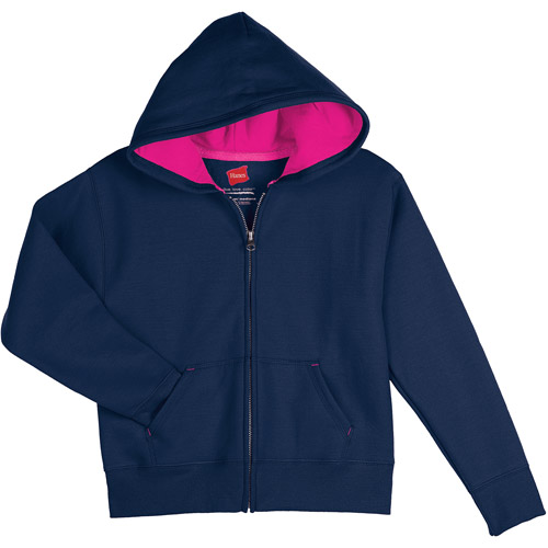 Hanes Girls' Fleece Zip Hood