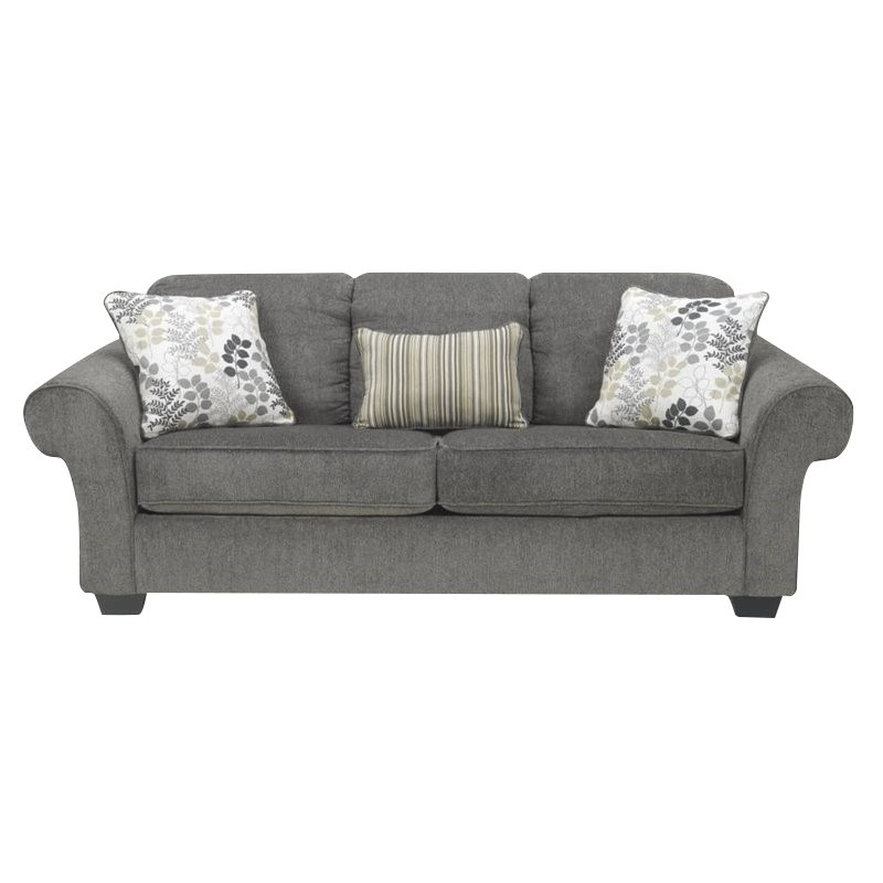 Ashley Makonnen Chenille Queen Size Sleeper Sofa in Charcoal Walmart