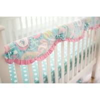 Pixie Baby in Aqua Crib Rail Cover