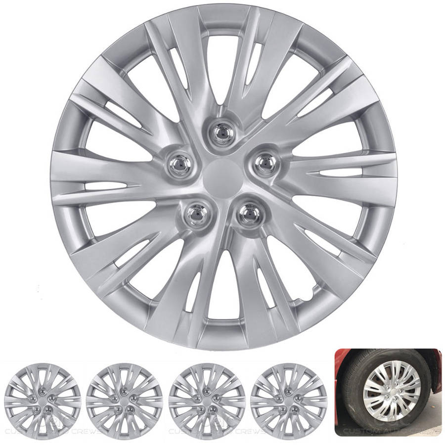 "BDK 2012, 2013 Toyota Camry Style Hubcaps Wheel Cover, 16"" Silver Replica Cover, 4 Pieces"
