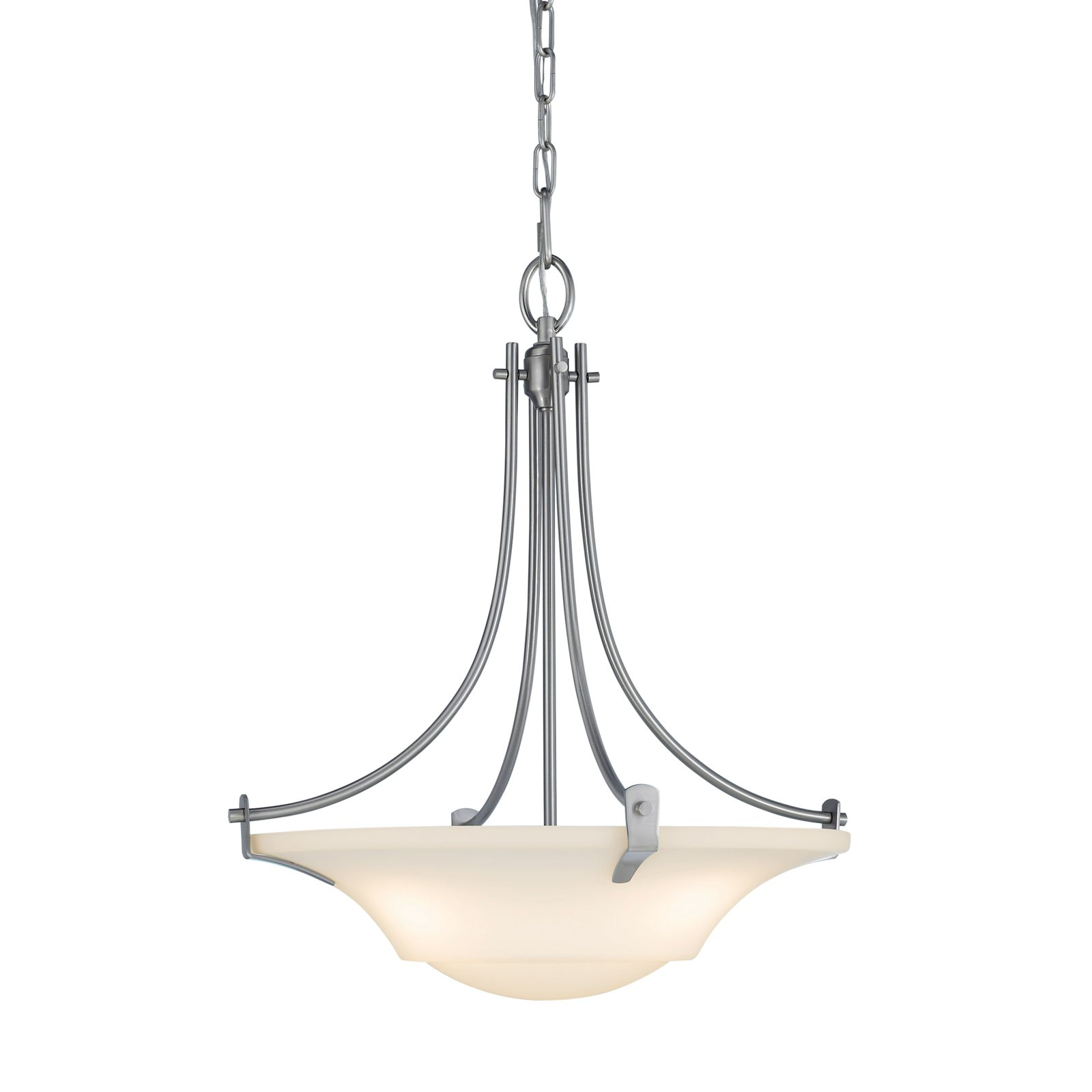 Feiss Barrington Pendant Light 18W in. Brushed Steel by Murray Feiss