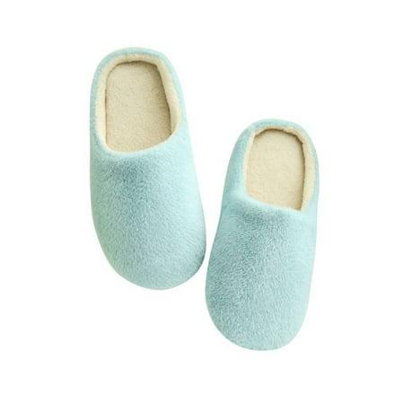 6fb2df60b48 Women Men Winter Warm Fleece Anti-Slip Slippers Home Sandals Indoor Shoes -  Walmart.com