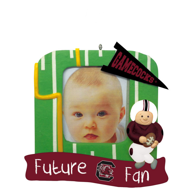South Carolina Gamecocks Official NCAA 5 inch x 5 inch  Future Fan Photo Frame Christmas Ornament by Evergreen