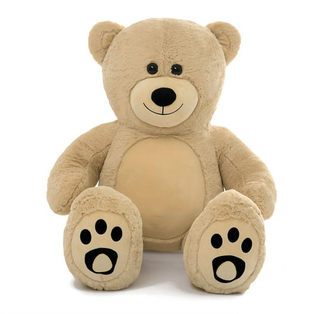 Foam Teddy Bears (WOWMAX 3 Foot Giant Teddy Bear Danny Cuddly Stuffed Plush Animals Teddy Bear Toy Doll for Birthday Christmas Brown 36)