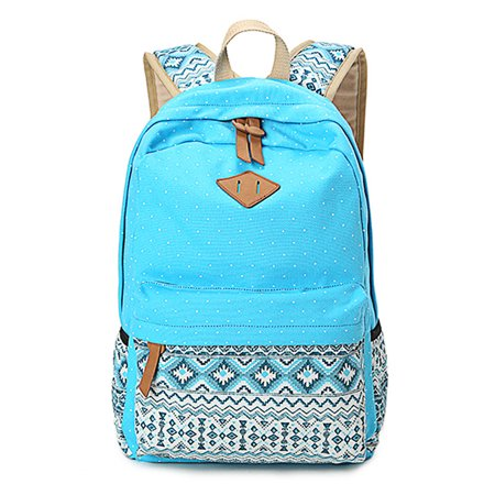 Female Vintage Stylish Dotted Women Backpack For School Teenagers Girls Purple
